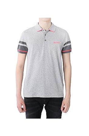 c42d4f86 Amazon.com: BOSS Green Men's Paddy Pro 10143643 01 Grey Polo Shirt ...