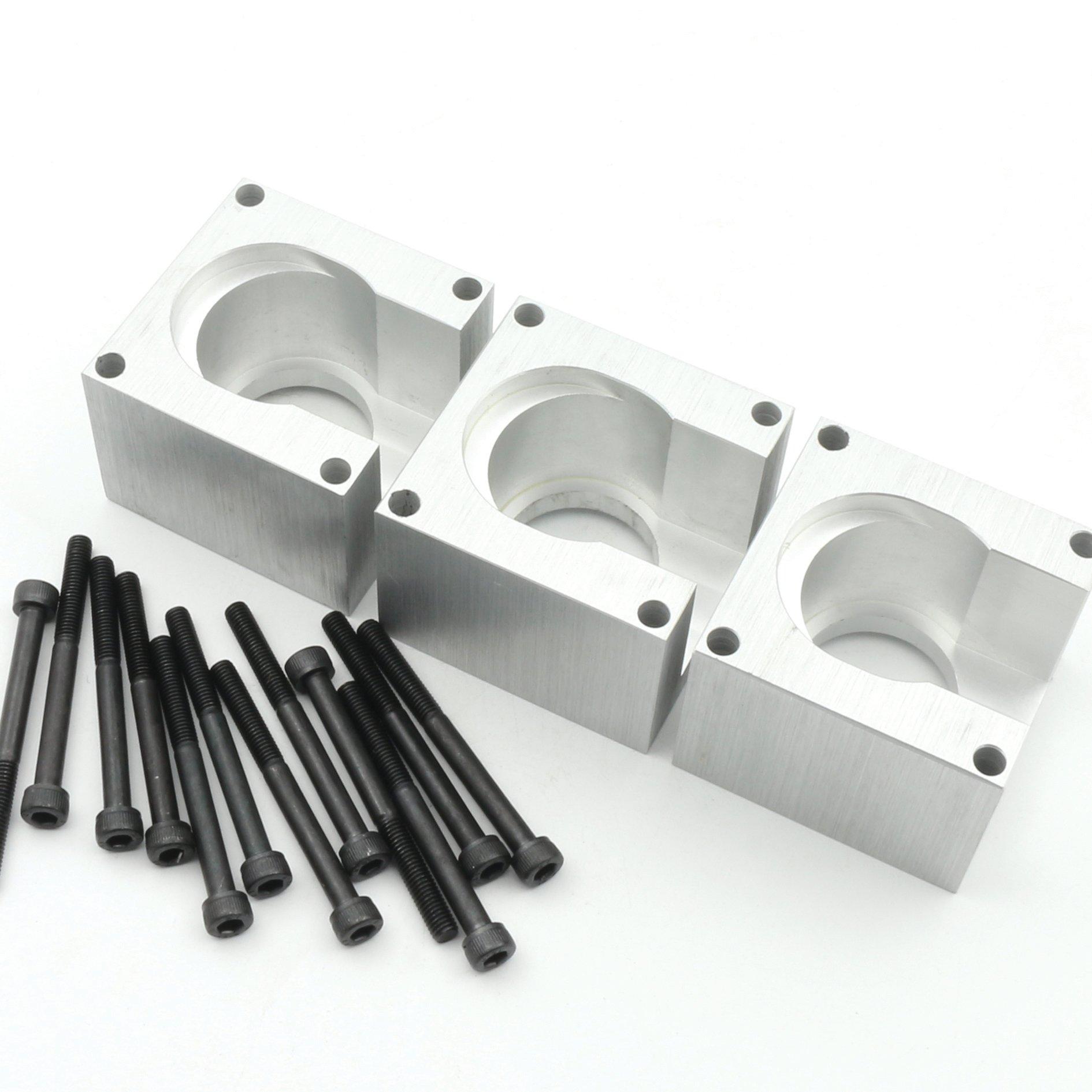 3Set Aluminum Nema23 Stepper Motor Mount Bracket Holder Clamp Support Block+12pcs Installation Screw for CNC Router Engraving Milling Machine …