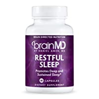Dr. Amen brainMD Restful Sleep - 60 Capsules - Promotes Relaxation & Calm, Contains...