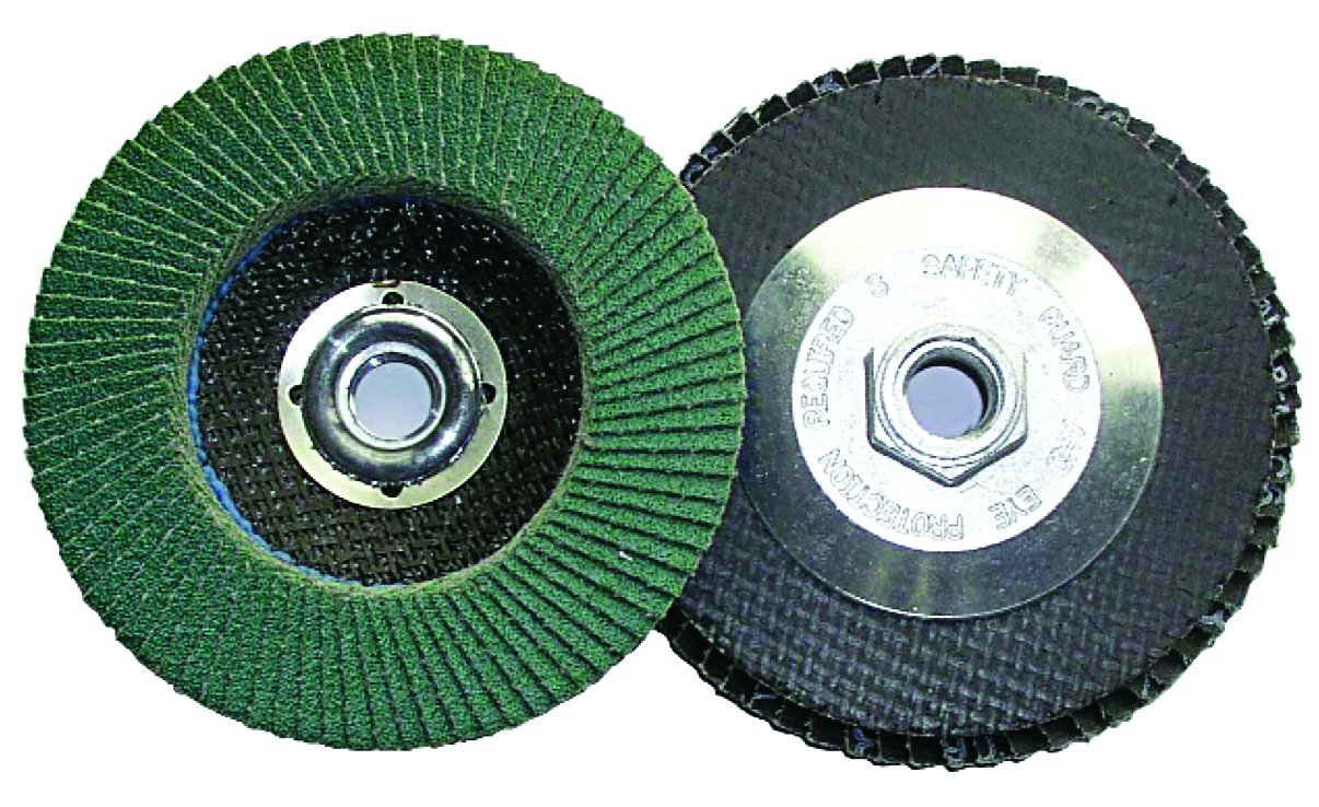 Grit-80 Shark 45882 4.5-Inch by 0.875-Inch Zirconia Flap Disc with Type 27 10-Pack