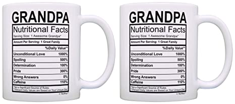 Amazon Birthday Gifts For Grandpa Nutritional Facts Label Gift