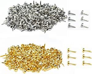 WOWOSS 500 Pcs Split Pin Paper Fasteners for Crafting Brads Split Pins Assorted Size Scrapbooking Split Pins Craft Round Brass Plated with Storage Box