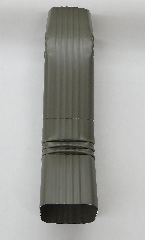 3x4 A, ALMOND Aluminum Offset Downspout Elbow