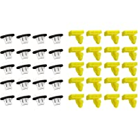 40pcs Car Wheel Arch Surround Trim Moulding Clips Kit Plastic Retainer Fasteners Compatible with Juke 76847JG00A 76882JG10A