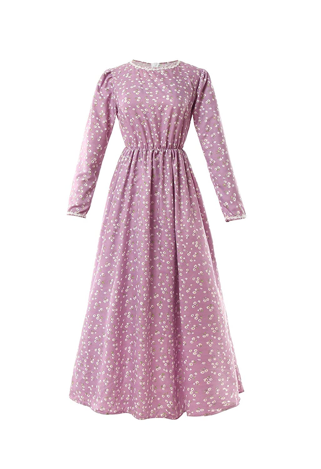 Cottagecore Dresses Aesthetic, Granny, Vintage  Dress Deluxe Colonial Dress Laura Ingalls Costume ROLECOS Pioneer Women Costume Floral Prairie $35.99 AT vintagedancer.com