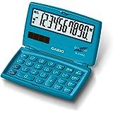 カシオ CASIO 電卓 10桁 レイクブルー 折りたたみ手帳タイプ SL-C100C-BU-N