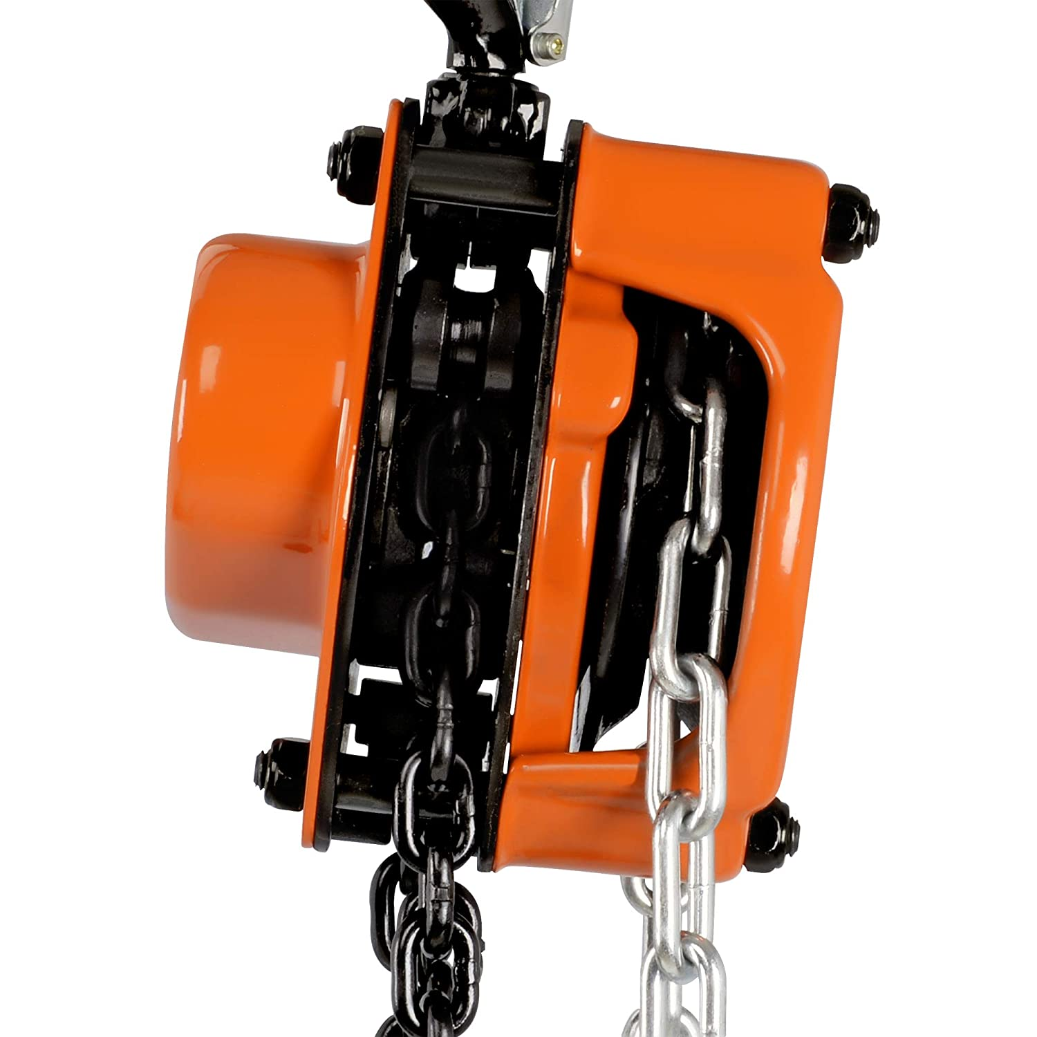 B07N7Y29KL SuperHandy Manual Chain Block Hoist Come Along 1/2 TON 1100 LBS Cap 10FT Lift 2 Heavy Duty Hooks Commercial Grade Steel for Lifting Pulling Construction Building Garage Warehouse Automotive Machinery 71e8Bs4ziOL._SL1500_