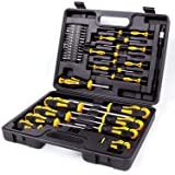 Amartisan 42-piece Magnetic Screwdriver Set with Case, Includs Slotted, Phillips, Hex, Pozidriv,Torx and Precision…