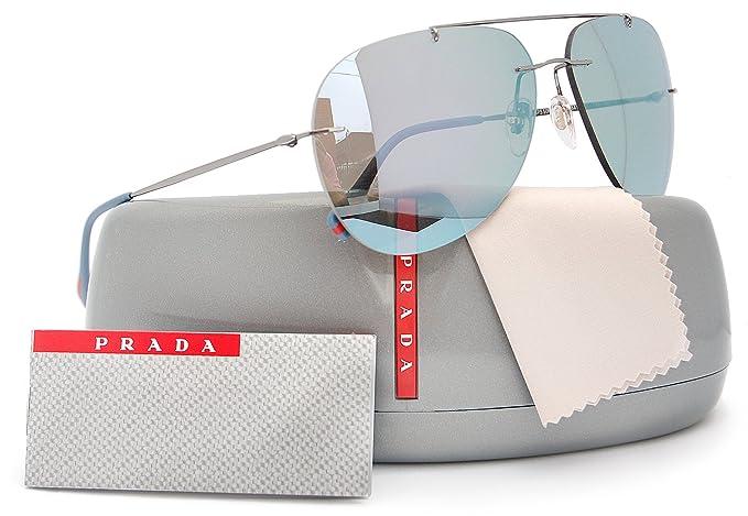 e58e99c39d3d Image Unavailable. Image not available for. Colour  Prada Linea Rossa  SPS50P Red Feather Sunglasses ...