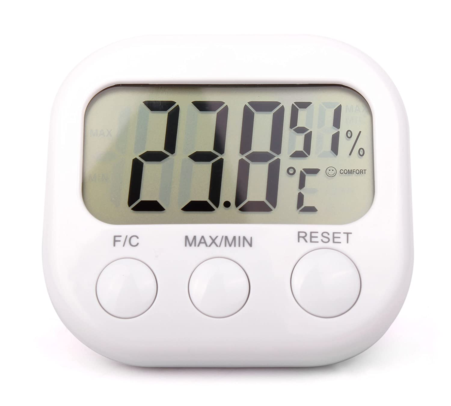 *Twin-Pack* Small Indoor LCD Room Temperature & Humidity Thermometer/Gauge With Stand And Digital Display - Perfect For Use In The Office Or At Home - by DURAGADGET 5054019157175