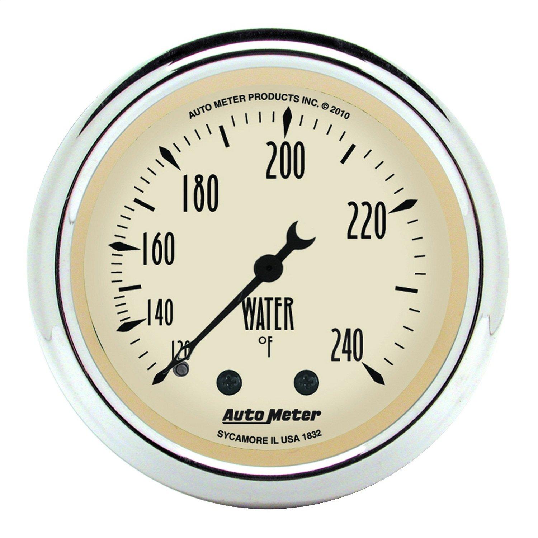 Auto Meter 1832 Antique Beige Mechanical Water Temperature Gauge