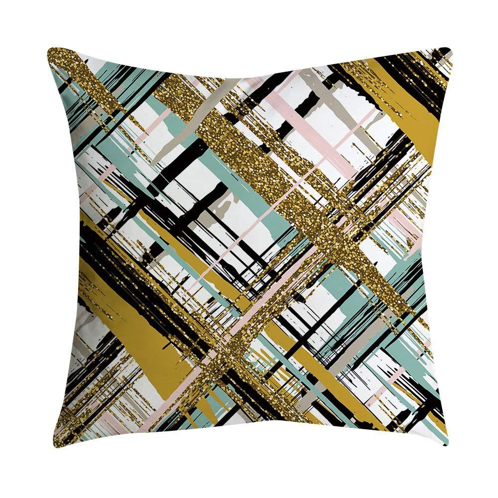 Pgojuni Small Fresh Pink Series Polyester Pillowcase Throw Pillow Cover Cushion Polyester Cover Pillow Case Home Decor 1pc (45cm X 45cm) (N)