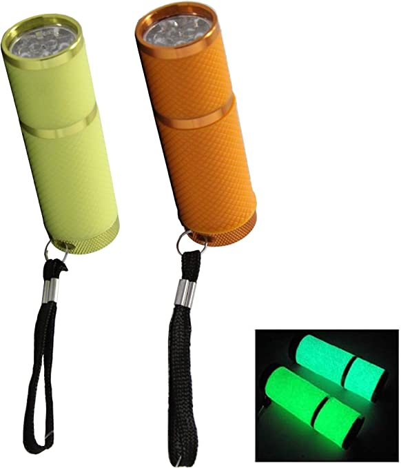 9 LED Mini Portable Flashlight Torch Water Resistant Rubber Coated Body Keychain