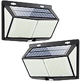 Luz Solar de Exterior, Mejoradas 2-Paquete 288 LED Luces Solares, 3 Modos Lámpara Solar Exterior IP65 Impermeable Solar Luz L
