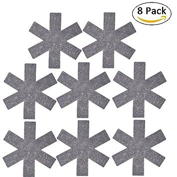 8 piezas de tela no tejida macetas sartenes protectores ...