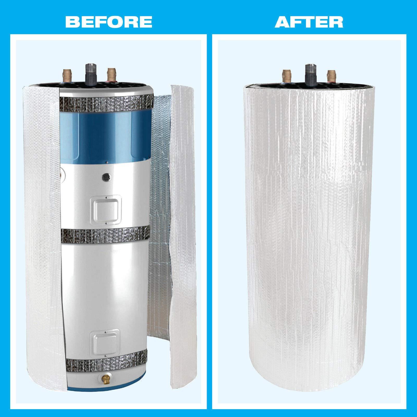 2 Car Garage Door Insulation Kit R 7.5 Fits 16x7 & 16x8 + Water Heater Jacket 60