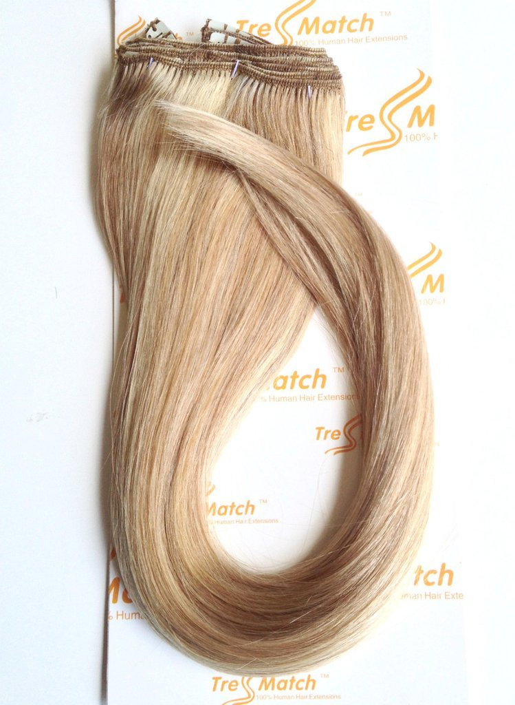 Amazon Tressmatch 16 18 Remy Human Hair Clip In Extensions