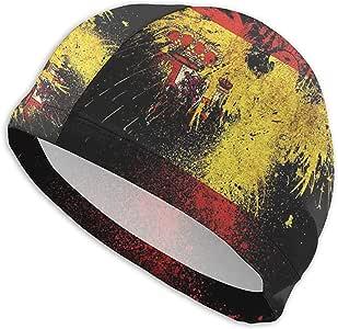VANOE Swim Cap Gorra de natación con Bandera de España y águila Sombrero de natación de Playa de Alta Elasticidad para Hombres y Mujeres: Amazon.es: Deportes y aire libre