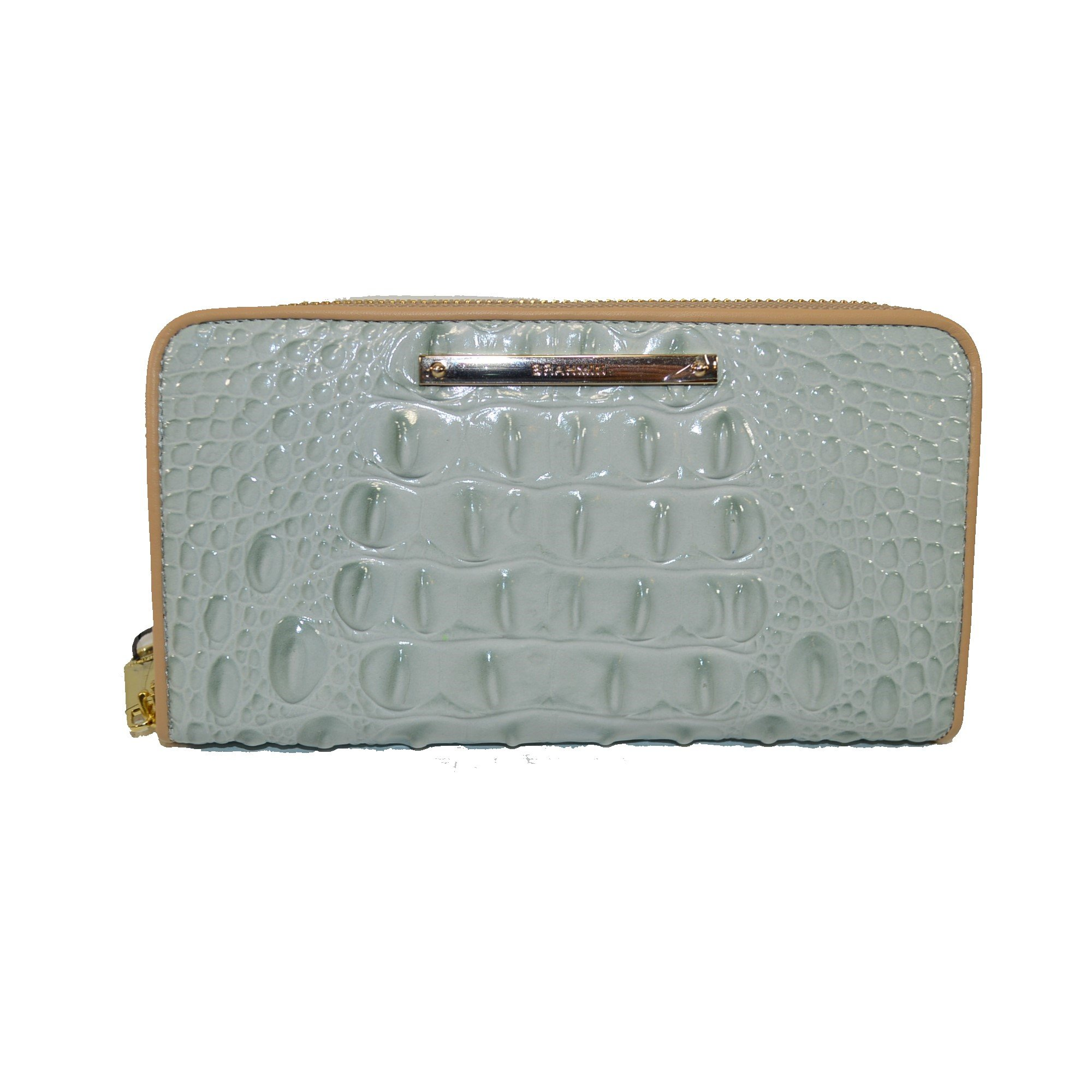 Brahmin Suri Sea Glass Tri - Color Leather Zip Wallet Clutch by Brahmin