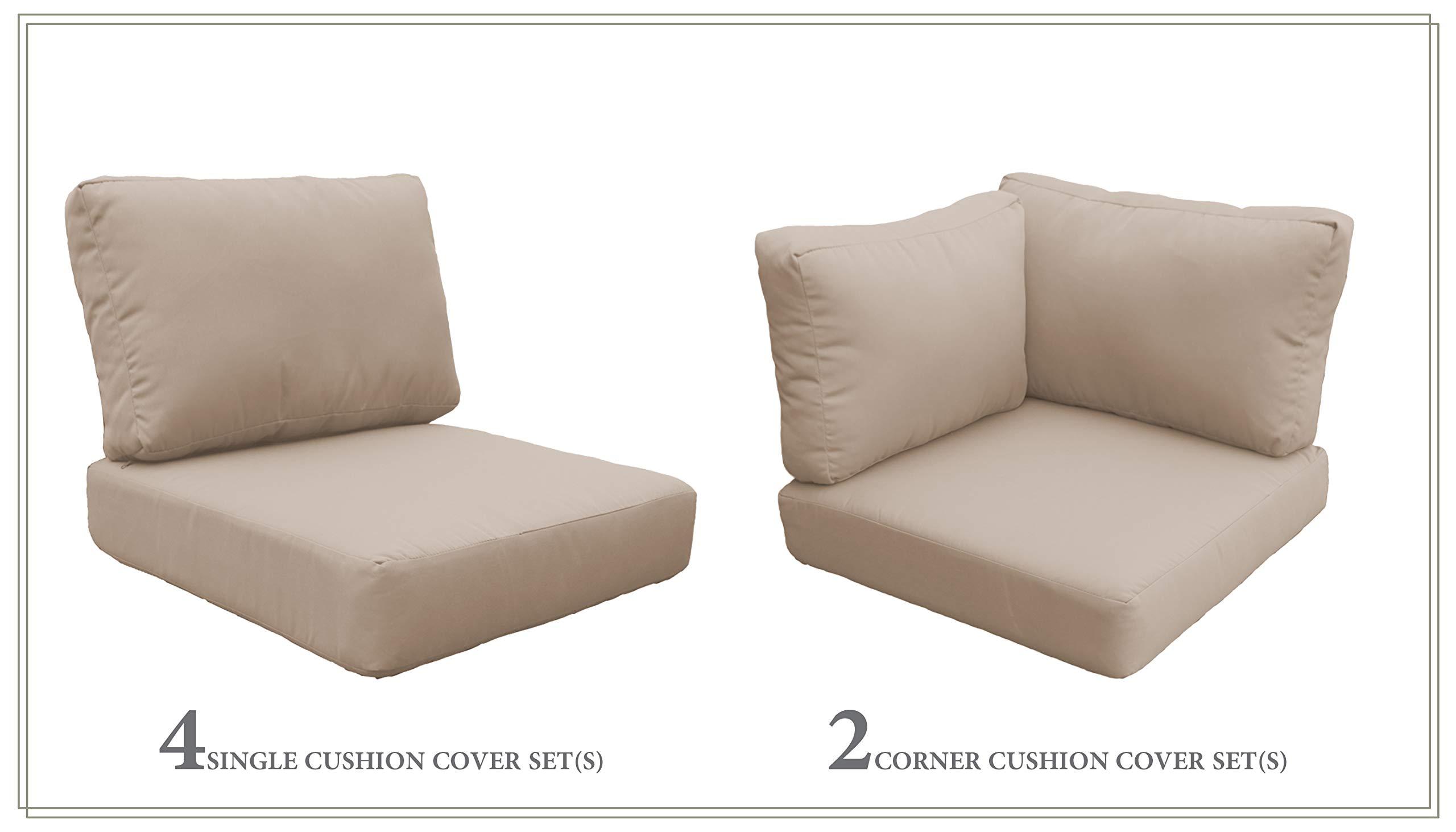 TK Classics High Back Cushion Set for VENICE-07c in Wheat
