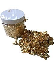 Gold-BaronDE GOLDFLOCKEN Barattolo 200 ml – Foglia di Metallo Oro Foglia Oro Flakes/Bastel Accessori per Scrapbooking, Decorazione, Decorazione, Fai da Te