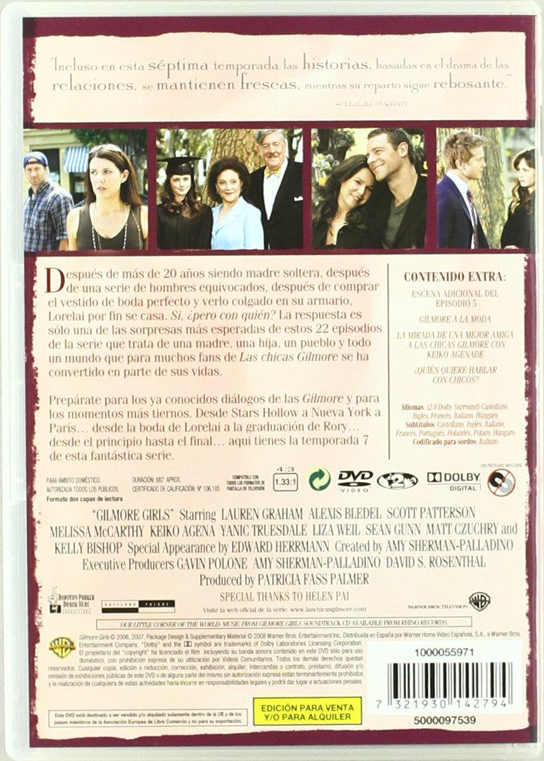 Las Chicas Gilmore - Temporada 7 [DVD]: Amazon.es: Alexis Bledel, Kelly Bishop, Liza Weil, Scott Patterson, Yanic Truesdale, Sean Gunn, Melissa Mccarthy, ...