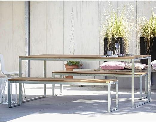 Ikarus Stelle Tisch 200 X 100 Cm Silbergrau Amazon De Kuche Haushalt