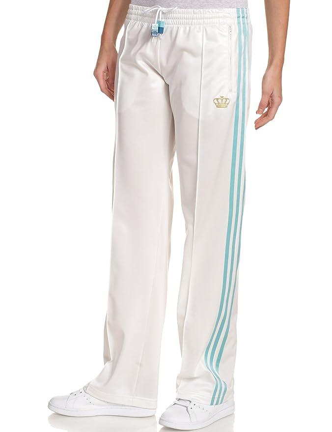 adidas Bling Logo pantalón de chándal de la Mujer, Mujer, Blanco ...