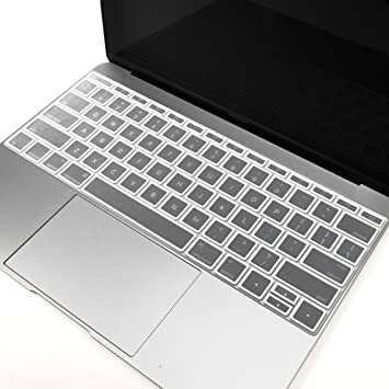 """White Border Silicone Keyboard Cover Skin for New Macbook 12/"""" with Retina A1534"""