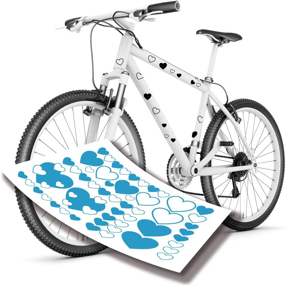 Pegatinas para bicicleta XXL pegatinas de tatuaje de corazón de ...