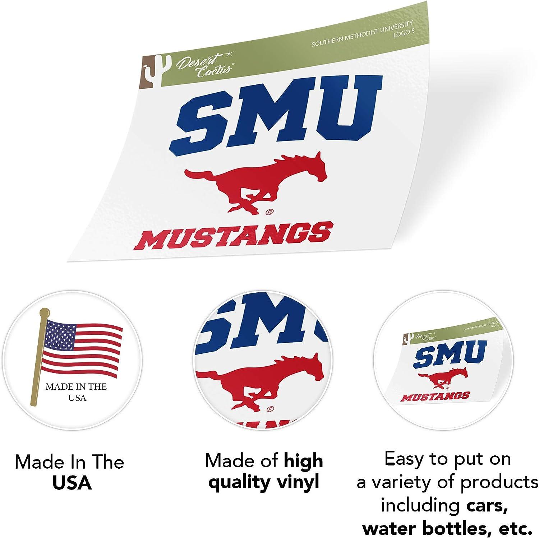 Southern Methodist University SMU Mustangs NCAA Vinyl Decal Laptop Water Bottle Car Scrapbook Sticker - 005