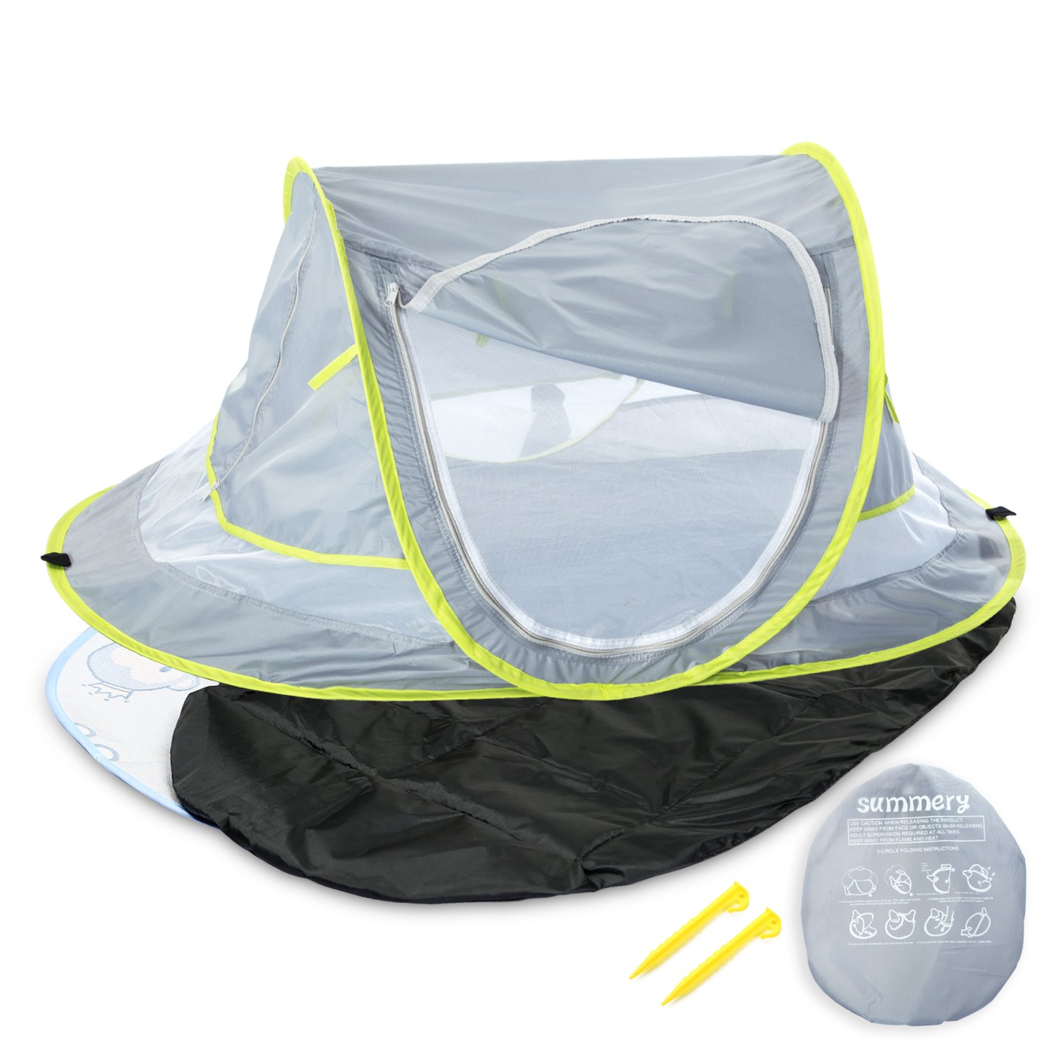 Infant Sun Shelters Pop Up Folding Travel Bed Mosquito Net Sunshade C Travel Baby Bed Large Baby Tent Portable Baby Travel Tent UPF 50