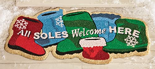 All Soles Welcome Christmas Coco Floor Mat