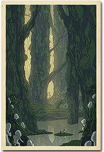 SAVA 58658 Classic Anime Cartoon Princess Mononoke Decor Wall 36x24 Poster Print