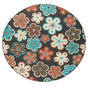 Seamless floral flores textura Daisy redondo Mandala tapiz, Hippie Hippy estilo, manta cama colcha, gitana colgar ...