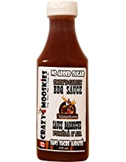 Crazy Mooskies No Added Sugar Smok'N Garlic BBQ Sauce, 375 Milliliter