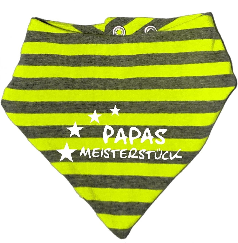 Halstuch Papas Meisterstueck//in 5 Designs//Gr/ö/ßen 0-36 Monate und Kinder Wende KLEINER FRATZ gestreiftes Baby
