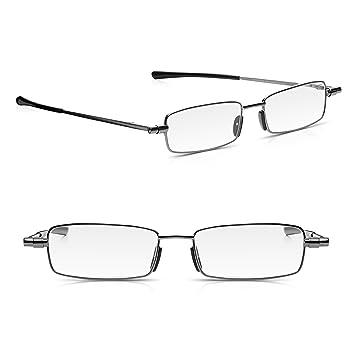 1c50c68abbf 2 Pack Read Optics Foldable Reading Glasses Fold Up Flat into Thin Travel  Hard Case