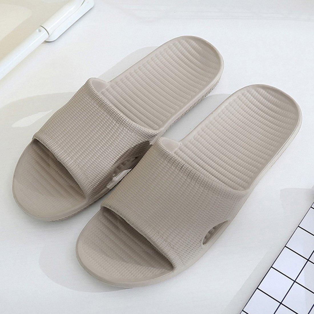 Huaide Women Men Bath Flat Slipper Anti-Slip Open Toe Shower Shoes Indoor Outdoor Sandal