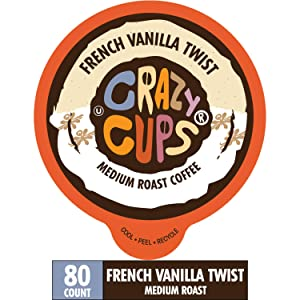 French Vanilla Flavored Coffee Pods - Amazing French Vanilla Bean Single-Serve Pods for Keurig K Cup Brewer Machines, 80 Pack