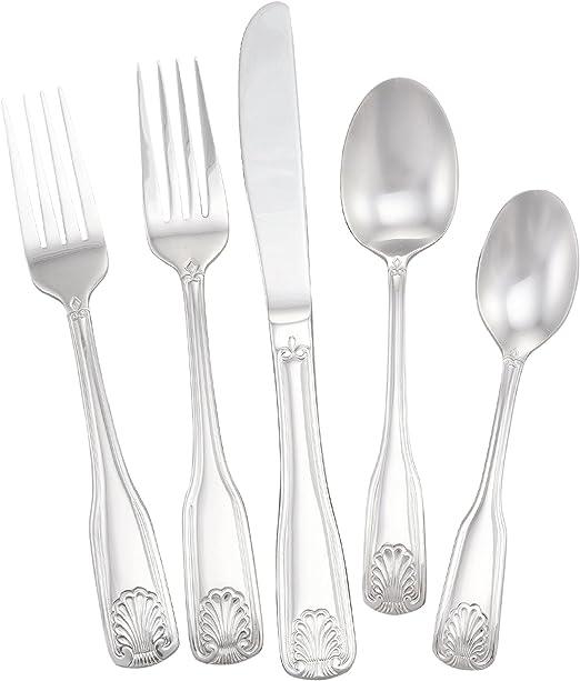 Stainless Steel Utica Cutlery 812820 Fanfare Flatware Set