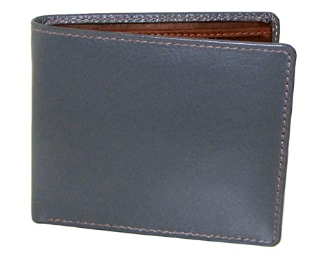 8f6a3e2c9495 Amazon.com: ili Leather Men's Bifold Wallet with RFID Blocking (Gray ...
