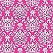 Amscan Classic Brocade Print Jumbo Gift Wrap, Pink, 16\' x 30\
