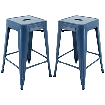 Amazoncom Vogue Furniture Direct 24 Barstools Backless Metal