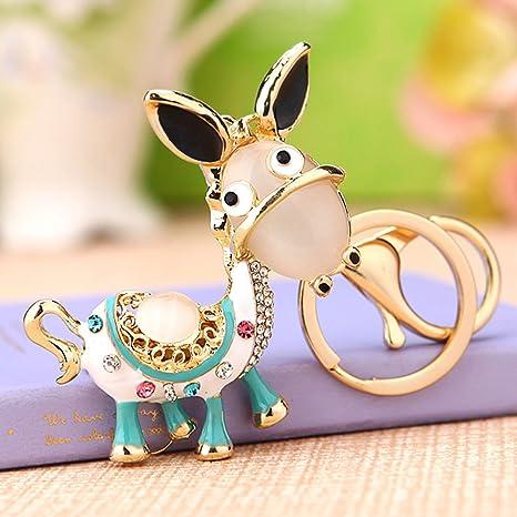 Amazon.com: Cute Donkey colgante clave cadena llavero Key ...
