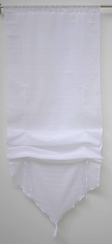 Linder 0401 /10/338 Store Pointe Relevable Montana Blanc Passe Tringle 45 x 165 cm 0401 /10/338/45 x 165