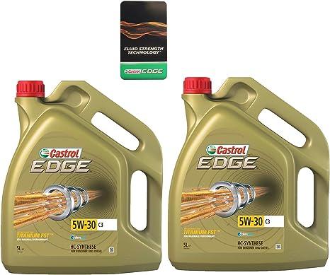 2 X 5 Litre 10 Litre Castrol Edge Titanium Fst 5 W 40 Motor Oil 30 C3 Engine Oil 31789523 Auto