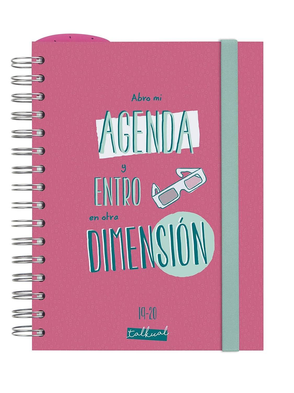 Finocam - Agenda 2019-2020 1 día página español Talkual Rosa