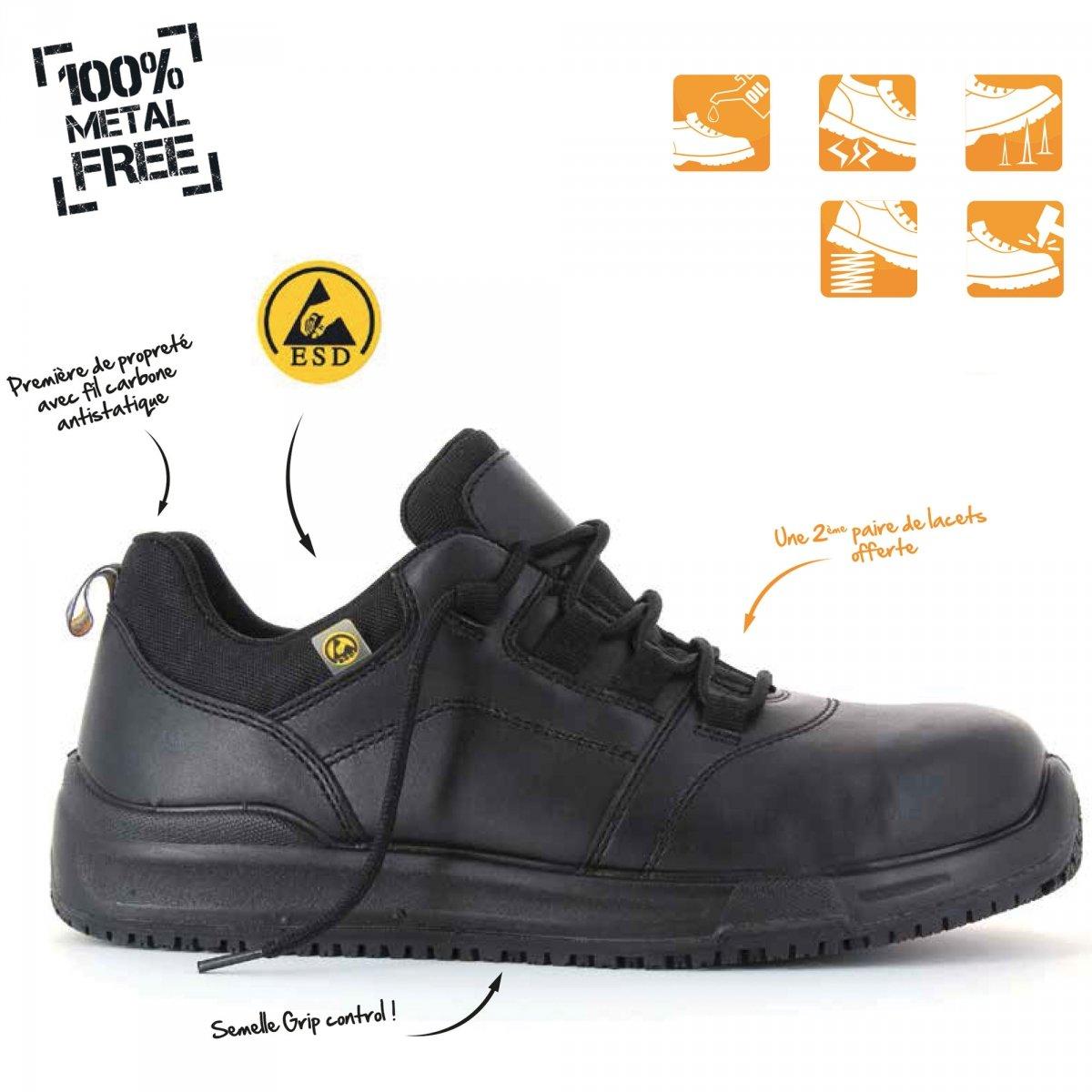 Basses Foxter L/ég/ères et Respirantes Baskets de Travail S1P SRC Chaussures de s/écurit/é R/ésistant Hommes