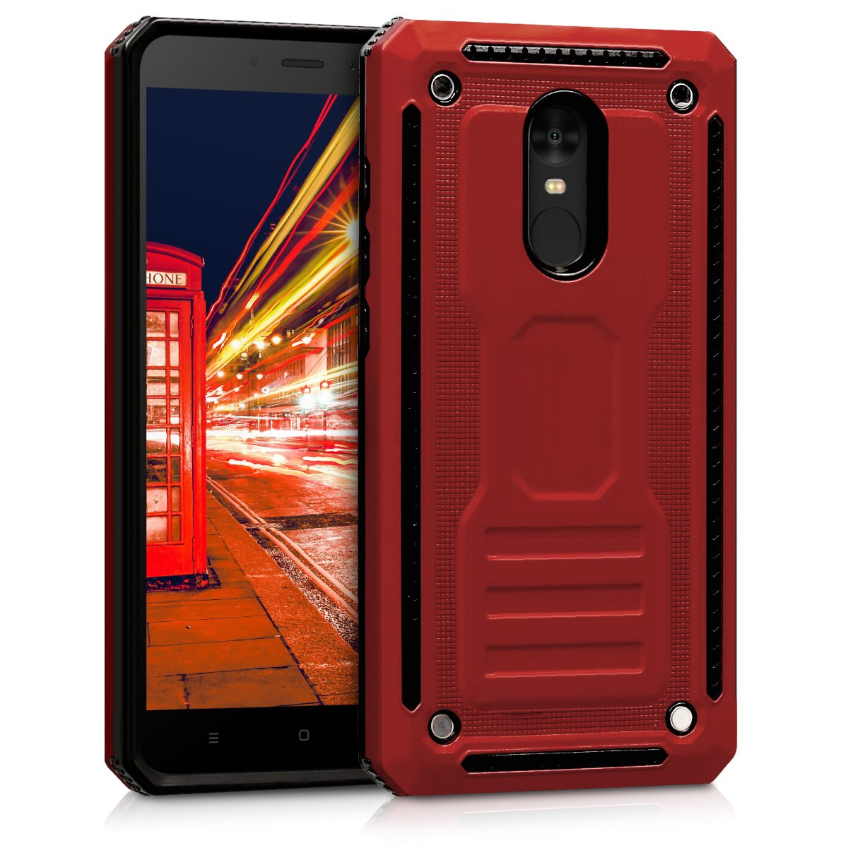 official photos 654c9 96936 kwmobile Full Armor Case for Xiaomi Redmi Note 4 / Note 4X - Heavy Duty  Shockproof Protective Hybrid Case Cover - Red/Black